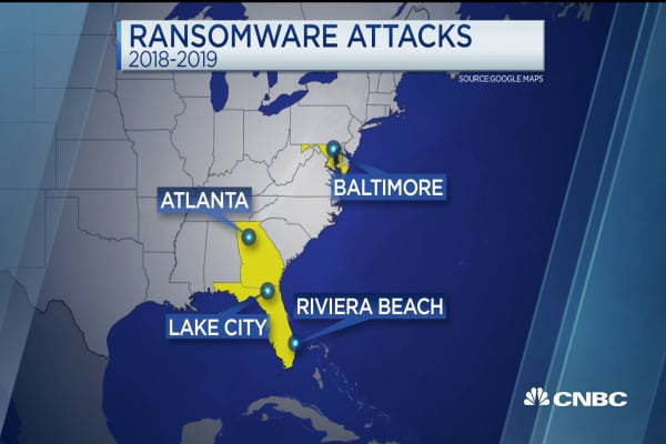 Cities across America are seeing an uptick in ransomware attacks