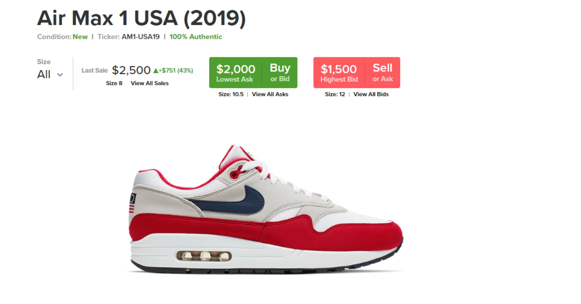 c1540566 Nike's 'Betsy Ross' sneakers sell for more than $2,000 on StockX