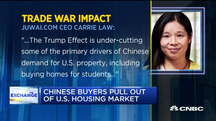 Chinese buyers are pulling out of the US housing market, here's why