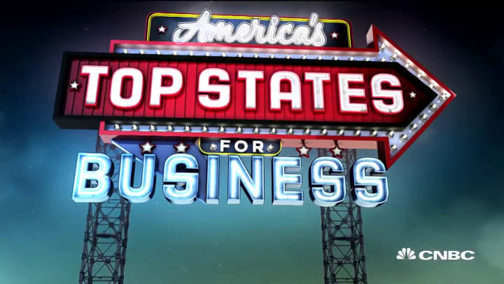 Here are the runners up for America's Top States for Business