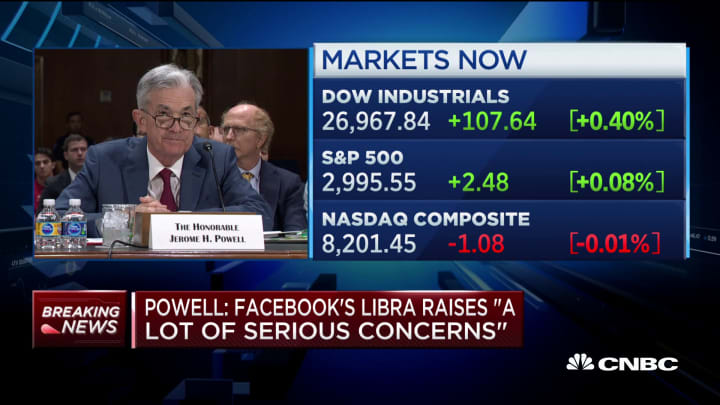 Fed's Powell: Facebook's Libra raises 'serious concerns' about regulation