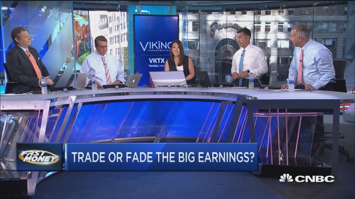 Here's how traders are playing the biggest earnings reports this week