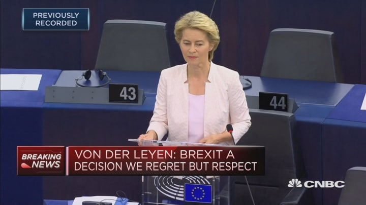 EU chief hopeful: Brexit is a decision we regret but respect