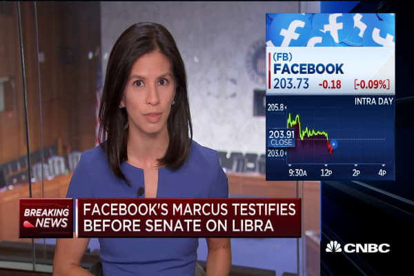 Senators grill Facebook's David Marcus over social media giant's cryptocurrency plans