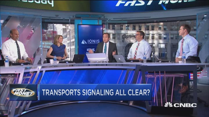 Transports surging, are they signaling all's clear for the market?