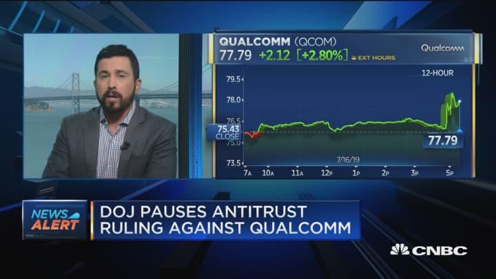 DOJ pauses antitrust ruling against Qualcomm