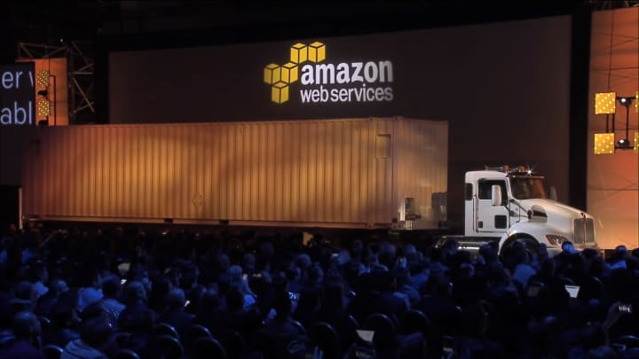 How Amazon Web Services transfers massive amounts of data to the cloud