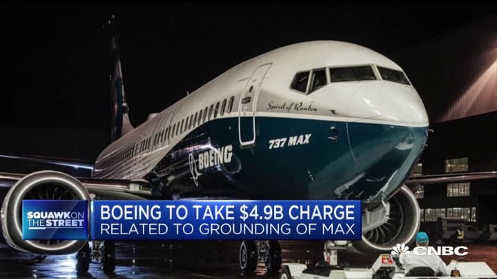 Why Boeing was up in the pre-market on news it will take $5B charge