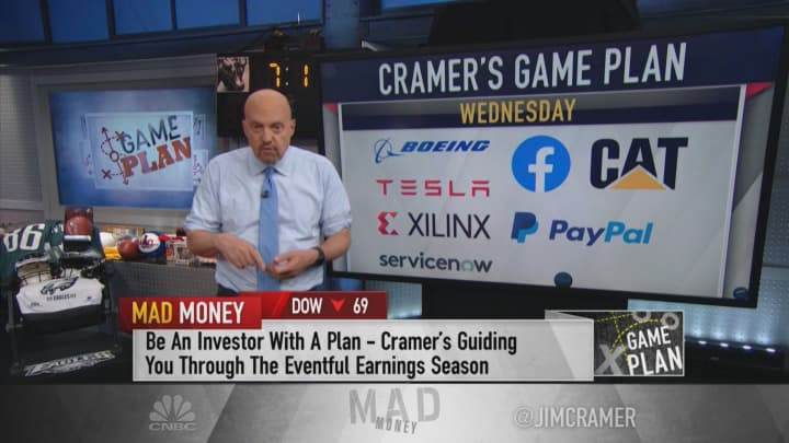 Cramer's rundown of earnings next week: Buy Chipotle, watch Whirlpool and steer clear of Alphabet