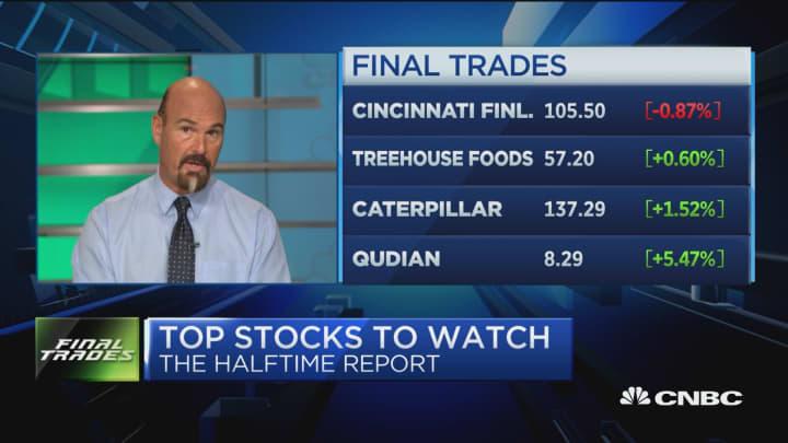 Final trades: Qudian, Caterpillar, TreeHouse Foods, & Cincinnati Financial