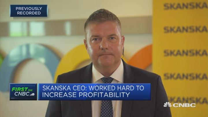 Skanska predicts weaker future after earnings beat expectations