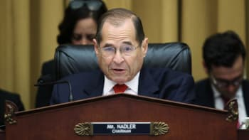 Chairman of the House Judiciary Committee Rep. Jerry Nadler (D-NY) questions former Special Counsel Robert Mueller as he testifies about his report on Russian interference in the 2016 presidential election in the Rayburn House Office Building July 24, 2019 in Washington, DC.