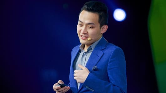 Justin Sun Yuchen, founder of Tron and CEO of BitTorrent, speaks during Ifeng Finance Summit at China World Summit Wing on November 4, 2015 in Beijing, China.