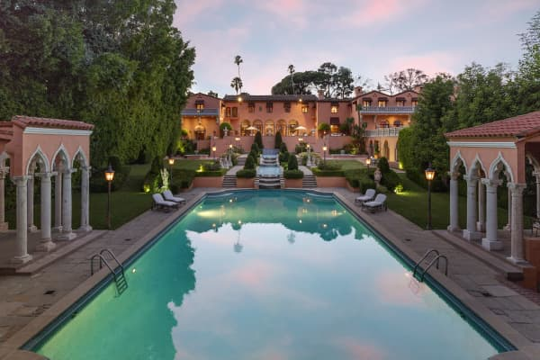 Sunset at the Beverly House