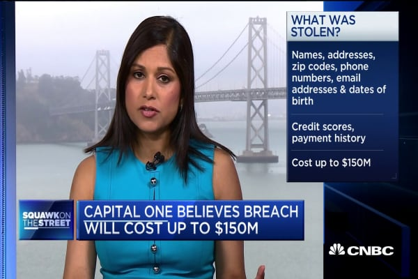 Capital One believes breach will cost up to $150 million