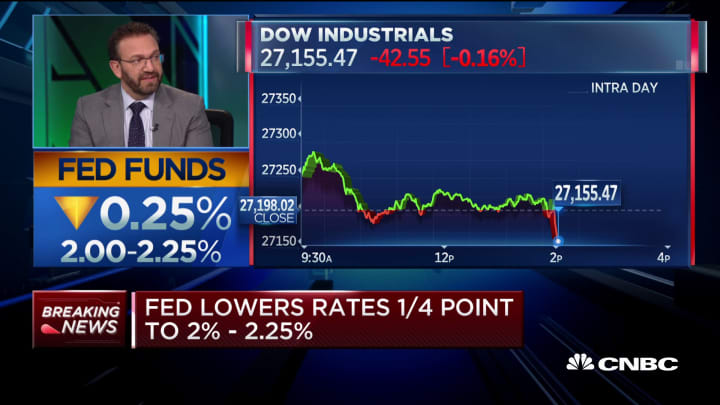 The Fed's decision to not cut rates more is a policy mistake, says Morgan Stanley's Jim Caron