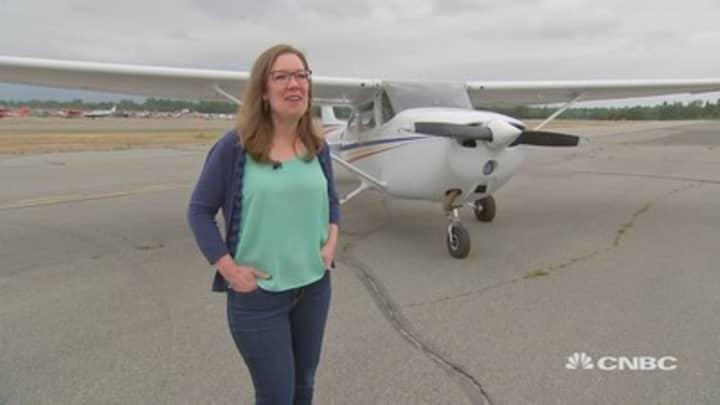 She's a gold seal flight instructor flying high over Alaska