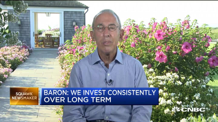 Billionaire Ron Baron: Volatility can be an advantage for long-term investors