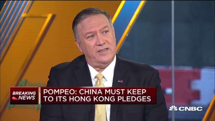 Pompeo: Violence in Hong Kong would make China trade deal 'more difficult'