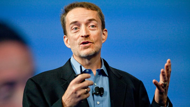 VMware CEO Pat Gelsinger speaks at the company's VMworld conference in San Francisco in 2012.