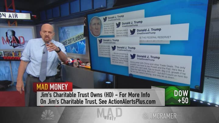 There is enough economic data for the Fed to warrant a rate cut, Jim Cramer says