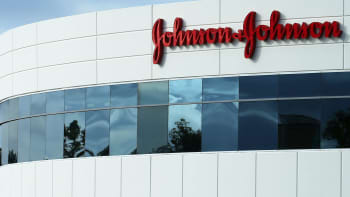 A Johnson & Johnson building is shown in Irvine, California.