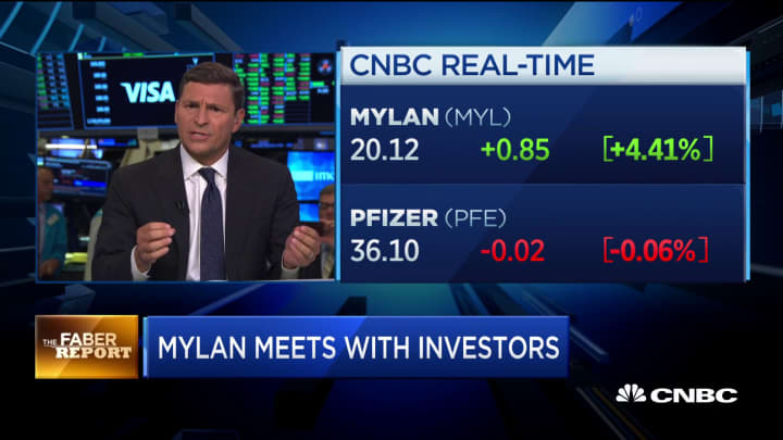 Mylan meets with investors to communicate benefits of Pfizer merger