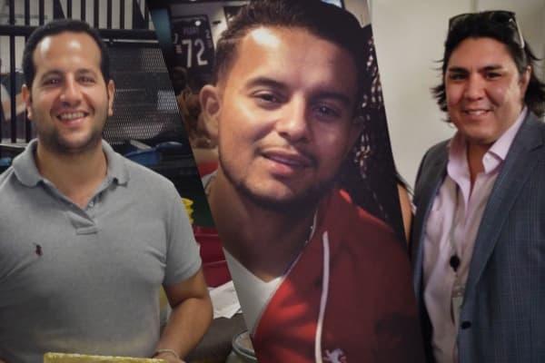 From left to right: Samer Barrage, Juan Granda and Renato Rodriguez