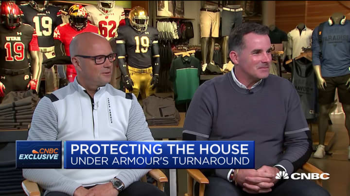 Under Armour's Kevin Plank and Patrik Frisk on the company's turnaround