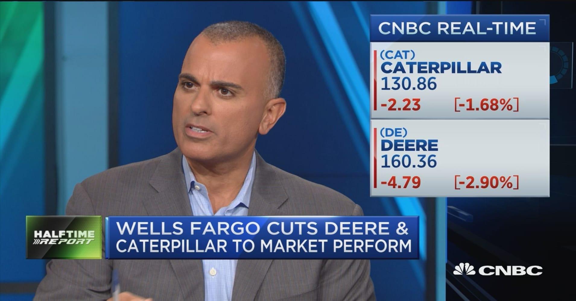 Wells Fargo downgrades Caterpillar and Deere on slowing demand