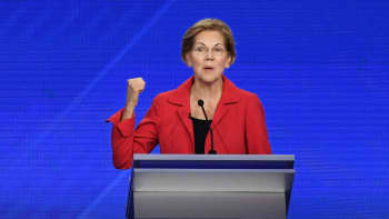 Democratic presidential hopefulMassachusetts Senator Elizabeth Warren speaks during the third Democratic primary debate of the 2020 presidential campaign season hosted by ABC News in partnership with Univision at Texas Southern University in Houston, Texas on September 12, 2019.