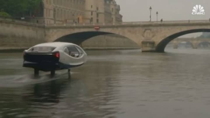 Watch 'flying' water taxis being tested in Paris