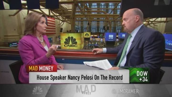 Nancy Pelosi talks trade deals, health care, antitrust probes and more in wide-ranging interview with Jim Cramer