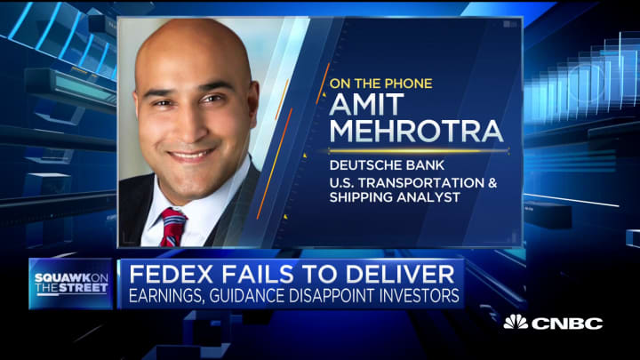 Deutsche Bank's Amit Mehrotra explains his downgrade of FedEx