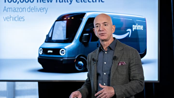 Amazon is purchasing 100,000 Rivian electric vans, the largest order of EV delivery vehicles ever