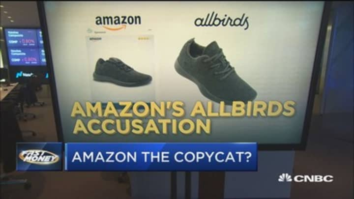 Amazon being accused of copying AllBird's popular shoe. Have we reached peak Silicon Valley copying?
