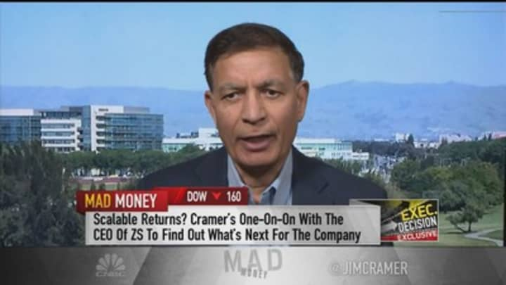 Zscaler CEO Jay Chaudhry shrugs off Palo Alto comments to Jim Cramer