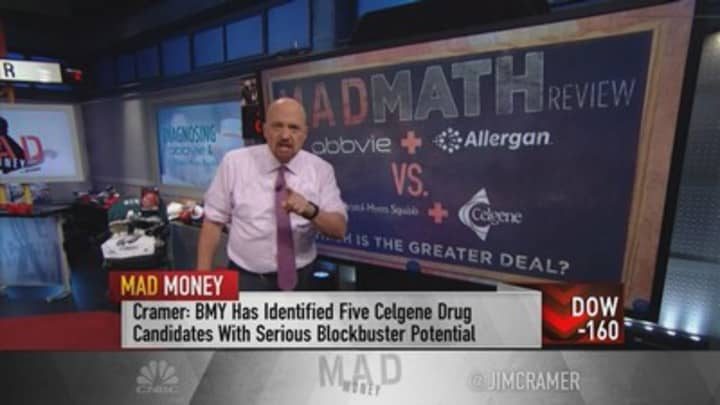 Jim Cramer assesses recent acquisitions in AbbVie and Bristol-Myers