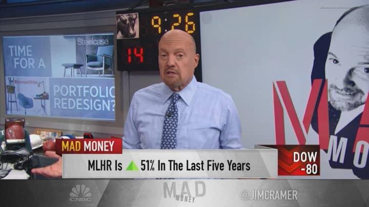 Herman Miller, Steelcase buys, despite recession fears, says Jim Cramer