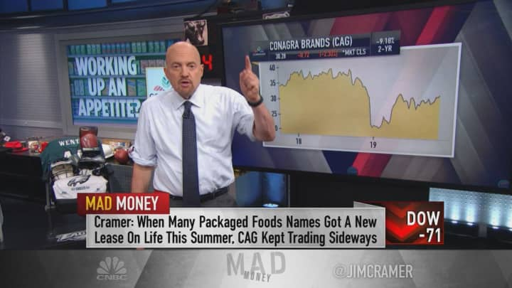 Jim Cramer bets that Conagra will engineer a turnaround in Pinnacle Foods
