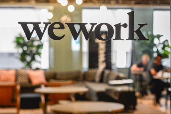 A WeWork office in San Francisco
