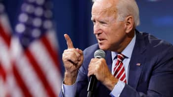 Democratic presidential candidate and former U.S. Vice President Joe Biden speaks during a forum held by gun safety organizations the Giffords group and March For Our Lives in Las Vegas, Nevada, October 2, 2019.
