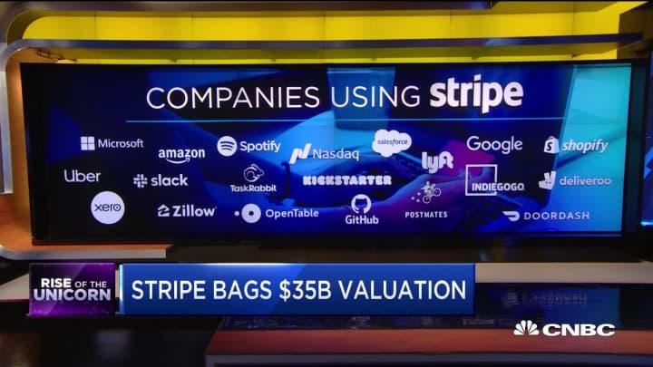 Stripe surges past fintech giant Square with $35 billion valuation