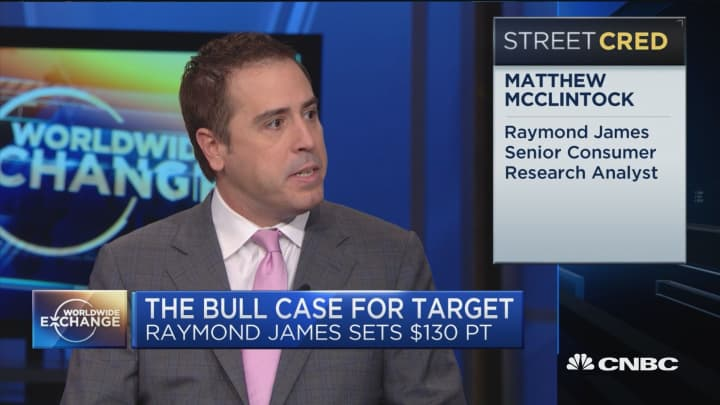 """Raymond James Analyst: """"Target's putting up its best traffic increases in company history"""""""