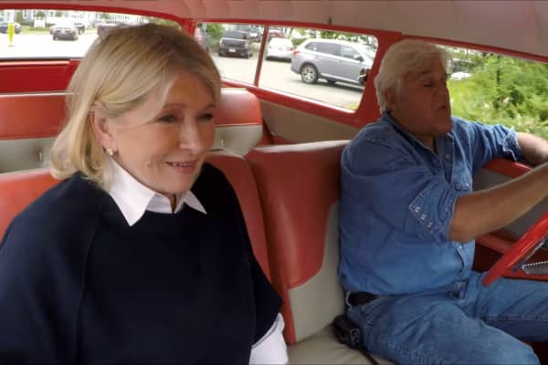 Jay Leno and Martha Stewart talk success, doubters and cars