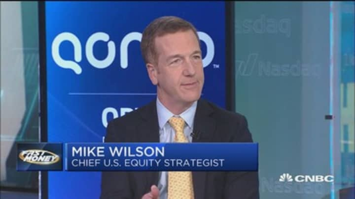 Morgan Stanley's Mike Wilson says this 'as good as it gets' for trade
