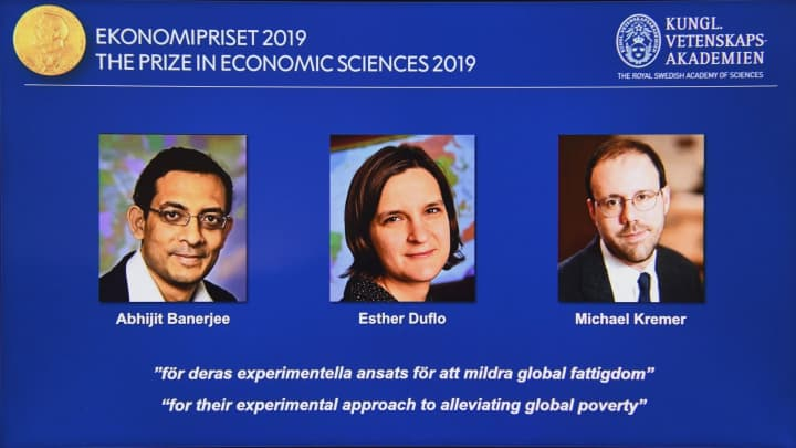 Three economists win Nobel Prize for work in fighting global poverty
