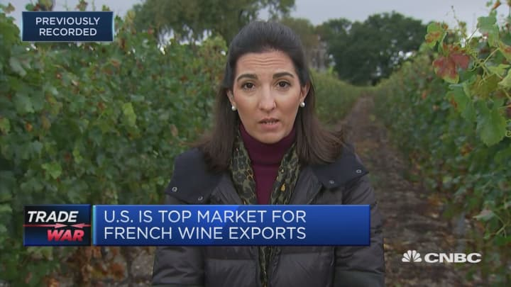 Tariffs will put European wine sectors in direct competition with each other, winemaker says