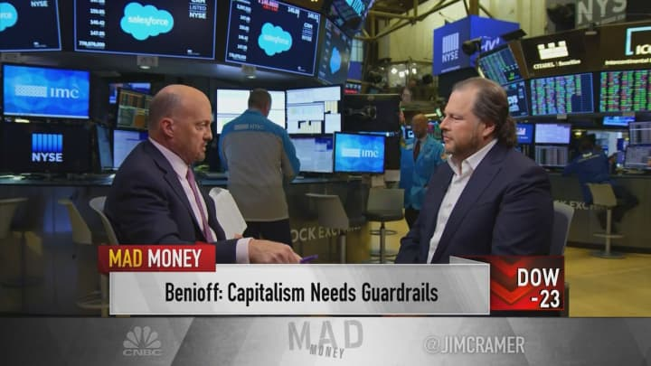 Salesforce's Marc Benioff talks new book, regulating Big Tech, AI and more with Jim Cramer