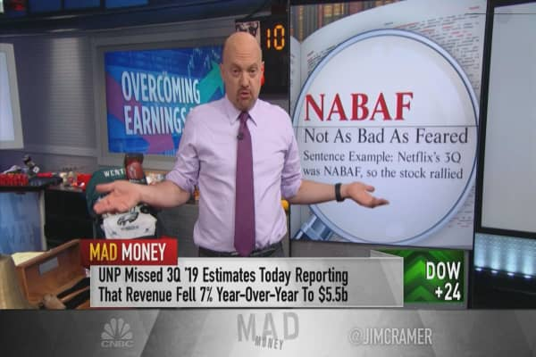 'These not-as-bad-as-feared quarters are good news for shareholders,' Jim Cramer says